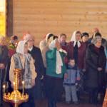 Вечерняя служба была совершена 19 апреля в храме Ксении Петербургской, село Борское