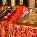 Воскресная литургия 14 августа, в день Изнесения древ Честнаго Креста Господня и в день тезоименитства епископа Никифора в храме Вознесения Христова, в с.Кинель-Черкассы