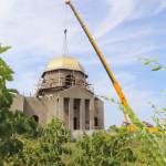 Установка купола на храм в честь Покрова Пресвятой Богородицы